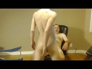 dad and son webcam show
