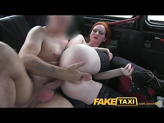 Faketaxi naughty red head with a great pair of tits