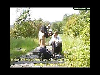 Hot dom 24 slave 20 feet spanking bondage