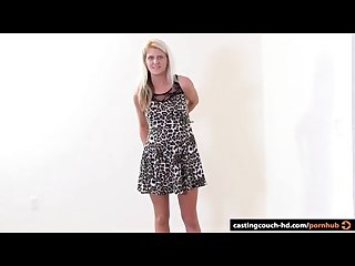 Sexy blonde cheats on bf in casting with first bbc