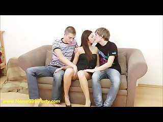 Teenage threesome