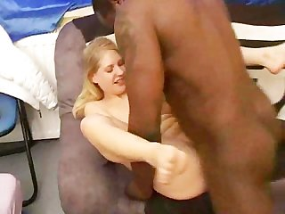 Blondy fucks her new black boyfriend