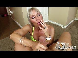 Erotic Nikki - Multitasking MILF Gives POV Rub And Tug While Smoking A Cig