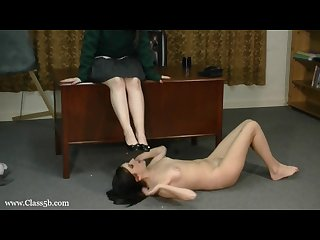 Class 5b princess Megan foot slave girl