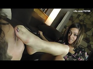 Horny foot worship