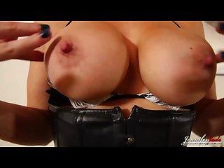 British milf jennifer jade strip as a sexy maid