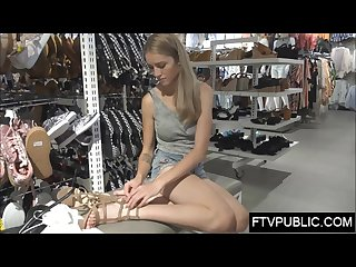 Amateur changing room orgasm