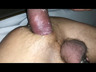 Sub bottom getting fucked by daddy and cuming in extreme chastity