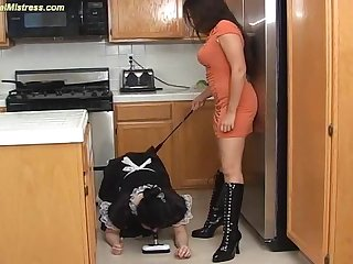 Mistress humiliates her female slave maid