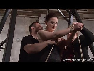 Slave caroline pierce Whipping and strict double domination punishment