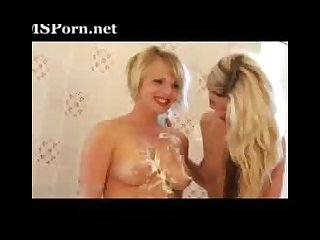 Lesbians in the shower