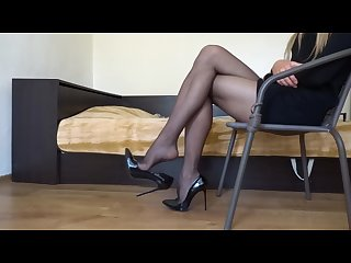dangling stiletto black high heels c4s com 100355