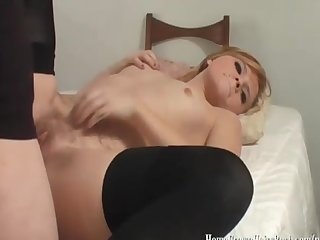 Ellie mae loves fresh jizz on her hairy bush