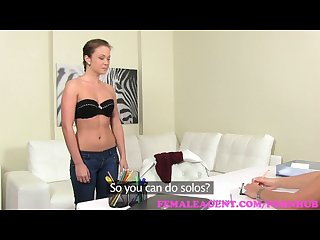 Femaleagent gorgeous lesbian will do anything for sexy milf agent