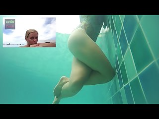 Dirty talk public poll Underwater masturbation thigh squeezing real orgasm