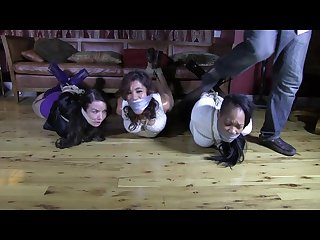 3 hot bitches hogtied