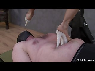 Brutal trample high heels