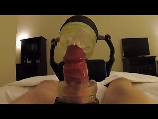 Robot sex machine Demo with cock holder