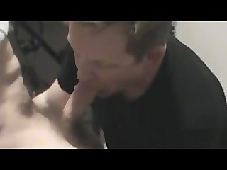 Fag cocksucker draining married dad