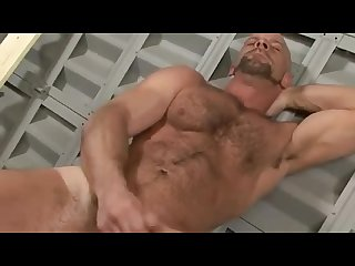 Hairy hunk dirk willis jerks off eats cum