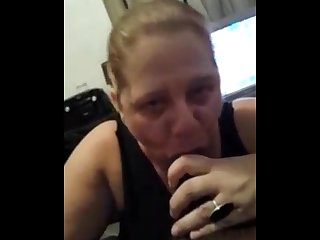 My black cock loving friend sucking and getting a facial shes a slut