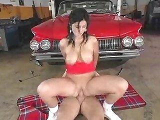 Red hot busty babe looking for trouble