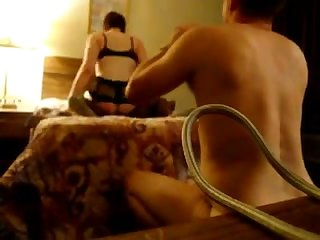 Husband watching wife having sex with black guy
