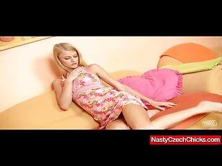 Slim blonde young miss kate masturbation