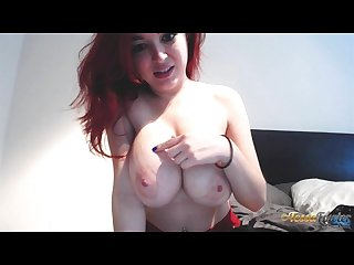 Tessa fowler bra fitting on webcam