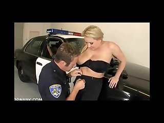 Police woman with nice jugs fucks her partner