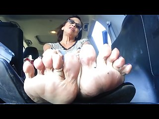 Smelly mature feet