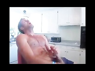 Lsu student cums in kitchen