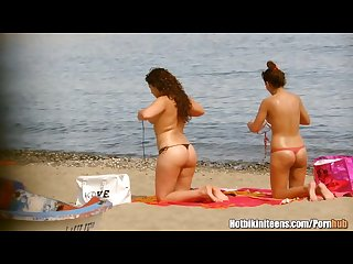 Sexy thong topless girls beach voyeur hiddencamera hd video