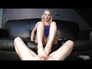 Beautiful footjob mistress
