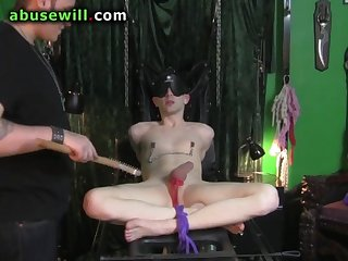 Cute young slave edged and tortured