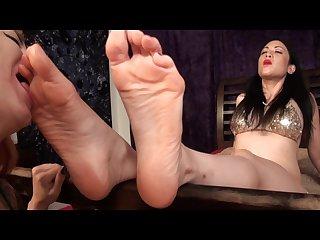 Pots asian dominatrix foot worship