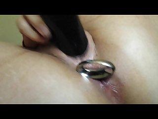 Big anal plug orgasm