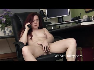 Annebelle lee strips and masturbates after work