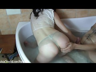 erratic queen mab erotic magic art of blowjob bathtub facefuck by sylvia