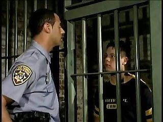 Young prisoner fucked by guard