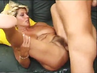 Hairy big tit granny