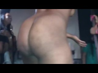 Girl takes it all off during twerk contest