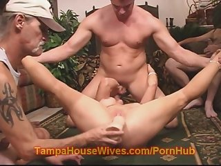 Hot milf housewife gets used at party