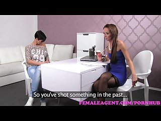 Femaleagent big breasts make agent wet with desire