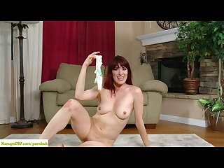 Older redhead odile pussy play