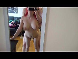 Sexy redhead quivers out of control