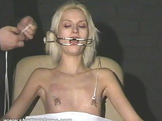 Extreme needle torture and hardcore bdsm of blonde Slavegirl in severe