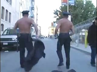 Exhibitionist cops