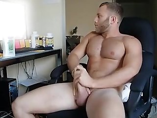 Str8 guy jerks cock