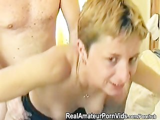 A petite mature british housewife takes an ass fucking
